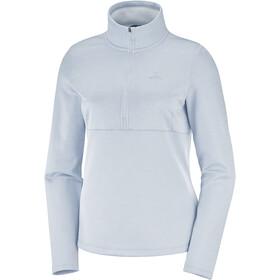 Salomon Transition Mid Shirt Halve Rits Dames, wit